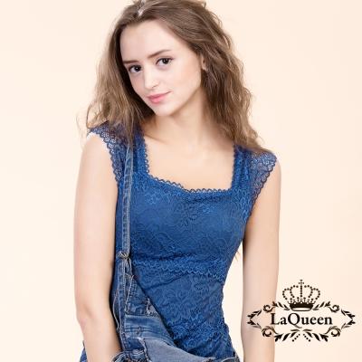 內衣 美體塑身百搭蠶絲背心-寶藍  La Queen