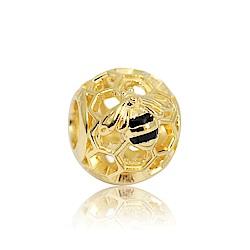 Pandora 潘朵拉 鍍18K魅力蜜蜂 純銀墜飾 串珠