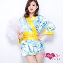 天使霓裳 櫻花特典 和服 角色扮演服(淺藍F)