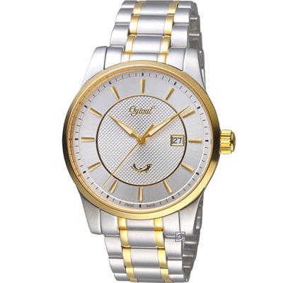 Ogival 愛其華 大器風範紳士錶(350-03MSK)白x雙色/40mm