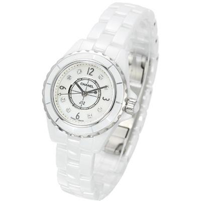 CHANEL 香奈兒 J12 H2570 經典8顆鑽陶瓷石英女錶-29mm
