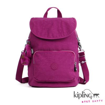 Kipling-後背包-蘭花紫素面