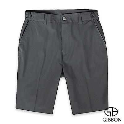 GIBBON 萊卡彈力輕薄鬆緊短褲‧灰色M-3XL