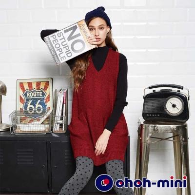 ohoh-mini-孕婦裝-羊毛長版背心孕婦上衣-2色