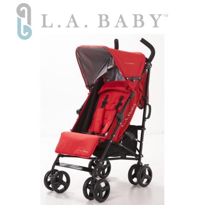 【美國 L.A. Baby】時尚輕便嬰兒手推車-紅色