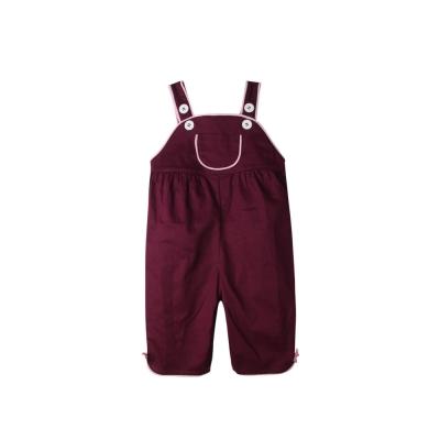 baby童衣 女寶寶吊帶褲 硬挺素色大口袋連身褲 52258