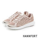 HANNFORT ICE時尚羽翼運動氣墊鞋-女-玫瑰金