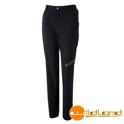 Wildland荒野 S2371-54黑色 女彈性四季款休閒長褲