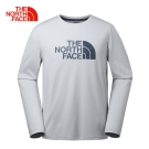 The North Face北面男款灰色寬鬆快乾透氣彈力長袖T恤
