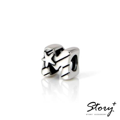 STORY故事銀飾-串珠墜飾-字母珠 M