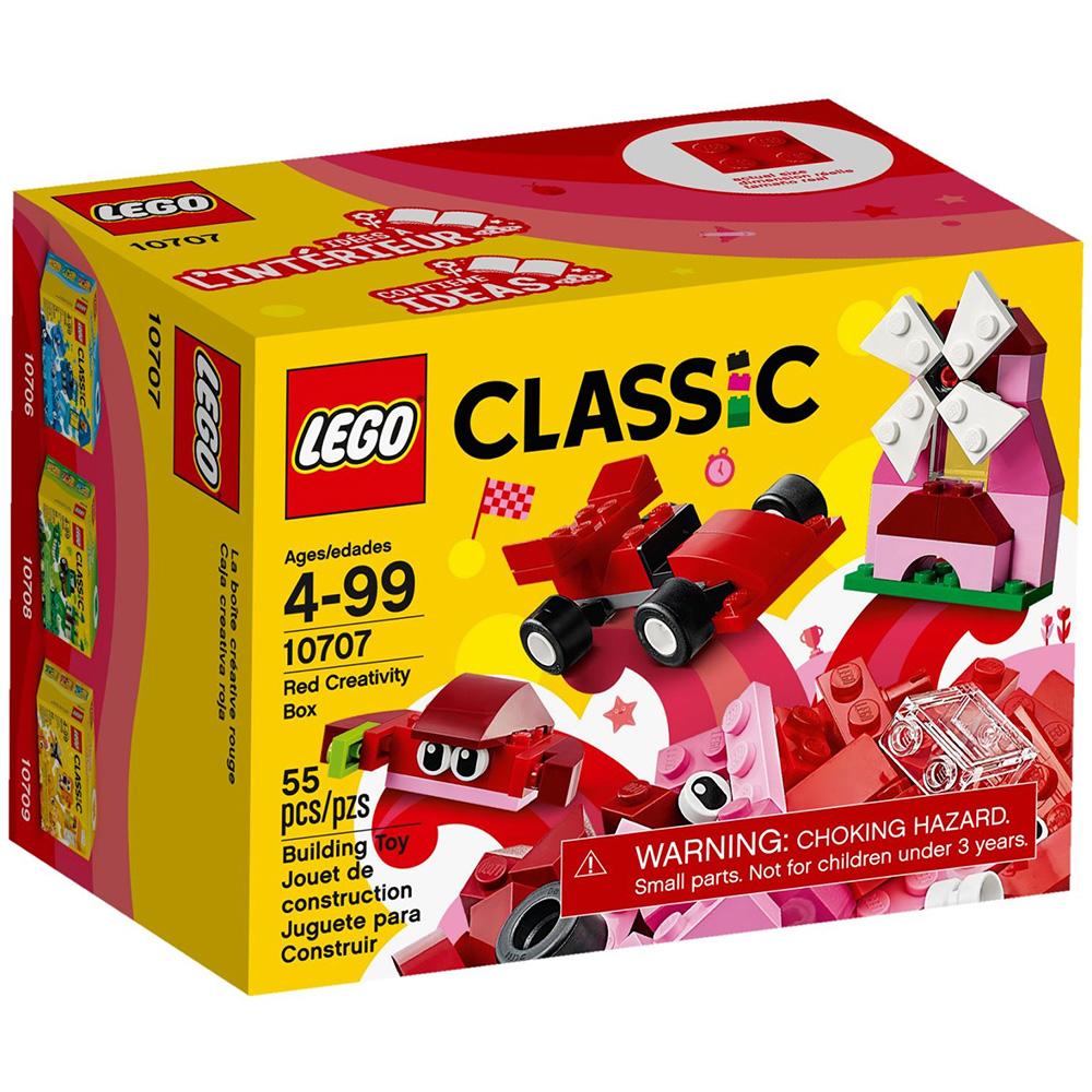 任選 LEGO樂高 經典系列 10707 紅色創意盒 (4Y+)