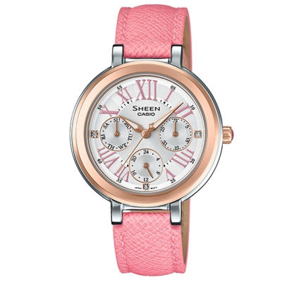 SHEEN完美閃耀羅馬時刻施華洛世奇腕錶(SHE-3034BGL-7)粉紅x金框/34mm