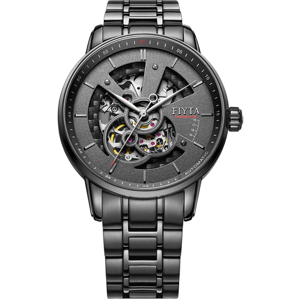FIYTA 飛亞達 攝影師復刻機械錶(GA8486.BBB)-黑色/42mm