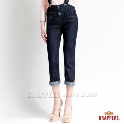 BRAPPERS 女款 女吊帶系列-女用吊帶長褲-水洗藍