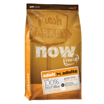 Now! 鮮肉無穀天然糧 成犬配方 12磅(100克55包替代出貨)