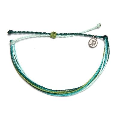 Pura Vida Original 繽紛基本款幸運手鍊 綠色珊瑚海