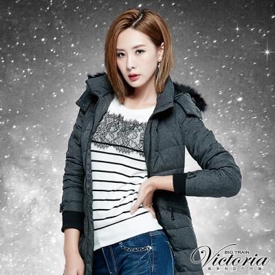 Victoria 蕾絲拼接拉克蘭八分袖線衫-女-白色