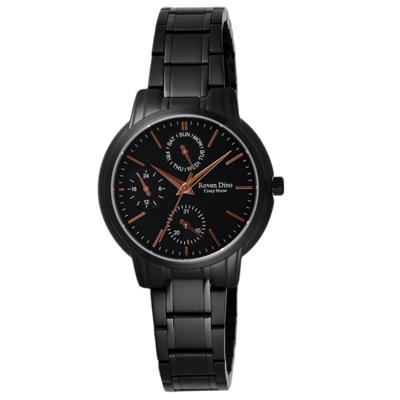 Roven Dino羅梵迪諾 指尖的調律三眼時尚腕錶-RD6063LB-396/31mm