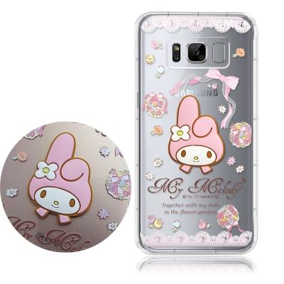 正版授權 美樂蒂 SAMSUNG Galaxy S8+ 立體大頭空壓手機殼(捧花...