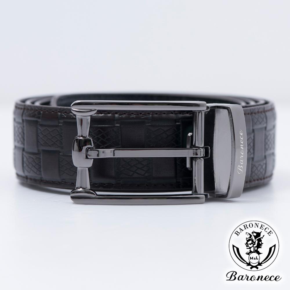 BARONECE 時尚色系嚴選高品質皮革皮帶_咖啡(517009)