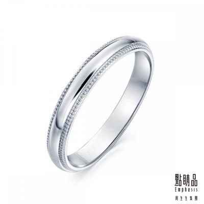 點睛品 Promessa 鉑金情侶戒指-女戒(71135)