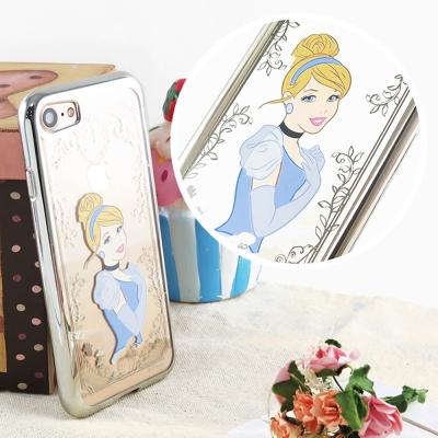 Disney迪士尼iPhone 8/7(4.7)電鍍彩繪保護套-公主系列-仙杜瑞...