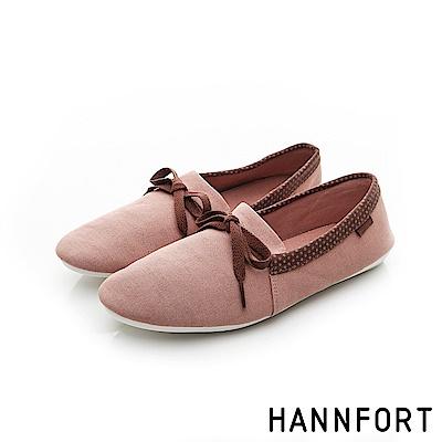 HANNFORT FLEX360簡約學院風平底鞋-女-蜜粉紅