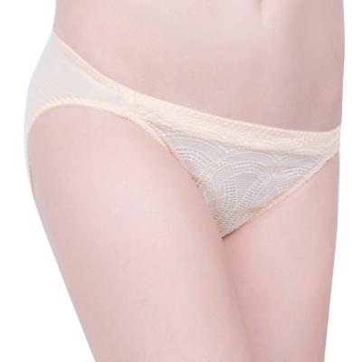 思薇爾 戀波系列M-XL蕾絲低腰三角褲(金膚色)