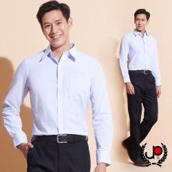 極品西服-歐式風範直條紋長袖襯衫_淺藍(SW031-53)