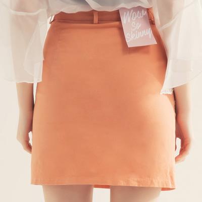 AIR SPACE 舒適彈力包臀褲裙(橘)!