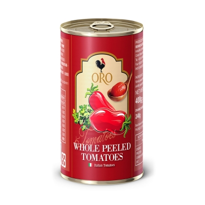 義大利ORO 去皮整顆番茄(400g)