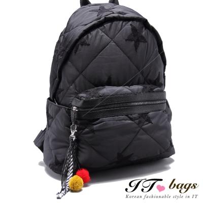 It Bags 傑克強斯時尚緞面菱格後背包 共五色