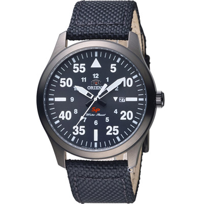 ORIENT 東方錶 SP系列 飛行運動石英錶-黑色/42mm