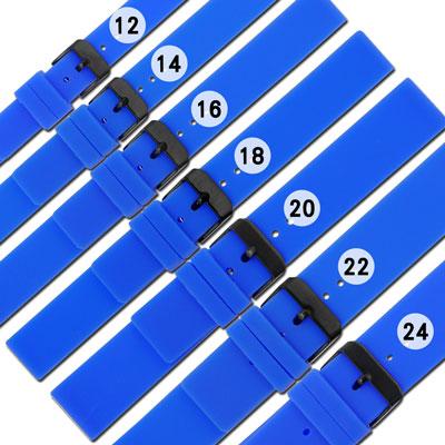 Watchband / 舒適耐用輕便運動型矽膠錶帶-藍色