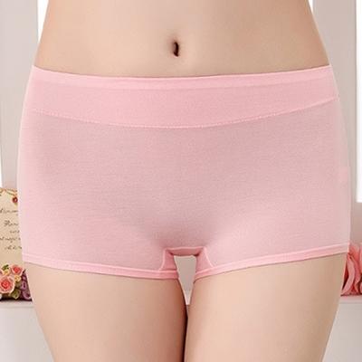 三件入-莫代爾平口內褲糖果色中腰四角內褲