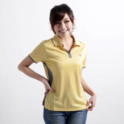 【遊遍天下】女款抗UV吸濕排汗機能POLO衫MS009黃