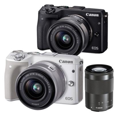 Canon EOS M3+15-45mm+55-200mm 雙鏡組(平輸中文)