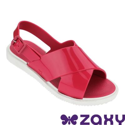 Zaxy 巴西 童 穿搭玩美涼鞋-桃紅色