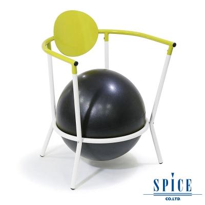 【日本 SPICE 】 多功能 碧綠白 瑜珈平衡球 時尚手扶椅