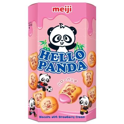 明治 HELLO PANDA貓熊草莓夾心餅乾(50g)