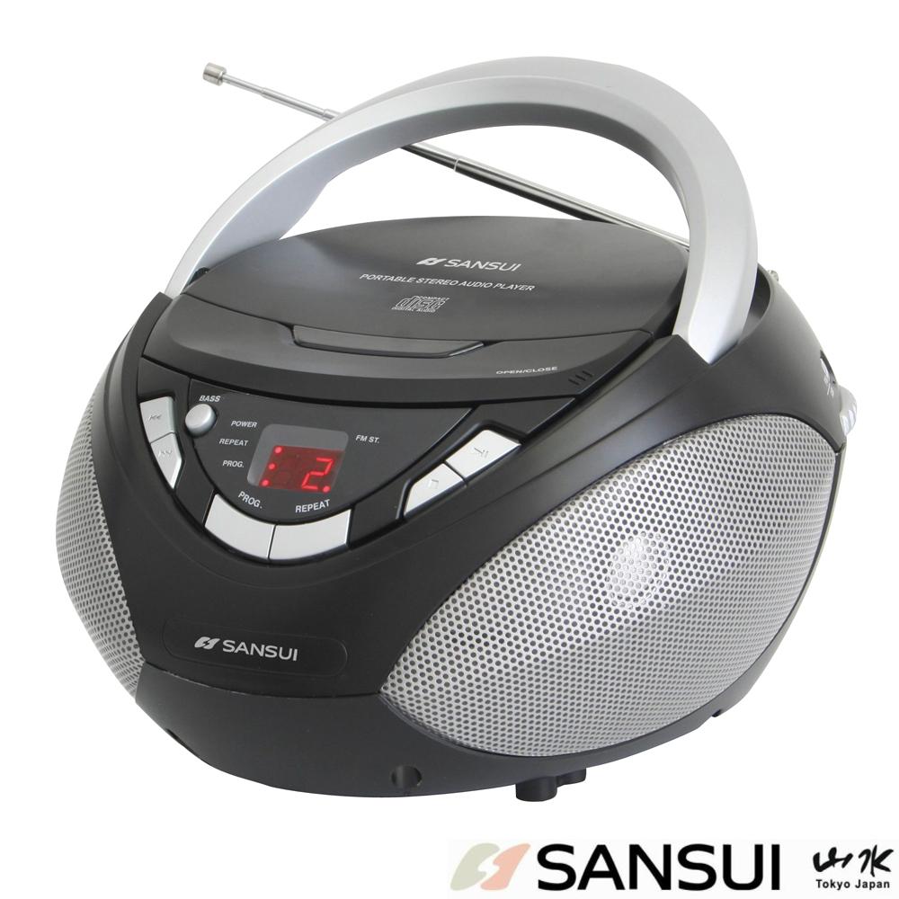 SANSUI山水CD/AUX手提式音響(SB-80N)
