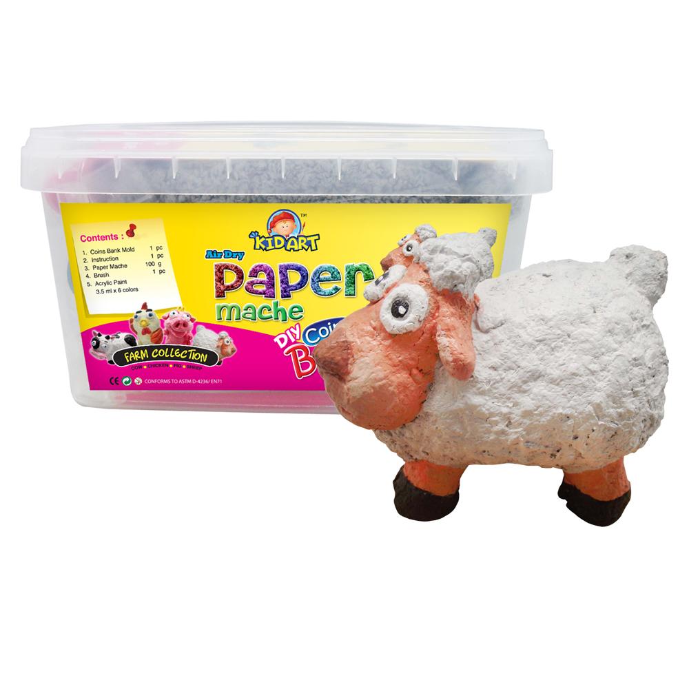 【KID ART】美國創意手作黏土-紙黏土(小羊咩)