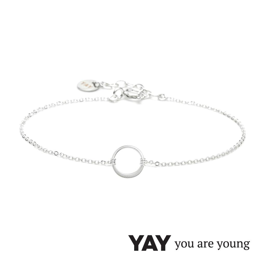 YAY You Are Young 法國品牌 Sultane 圓滿圈圈手鍊 銀色