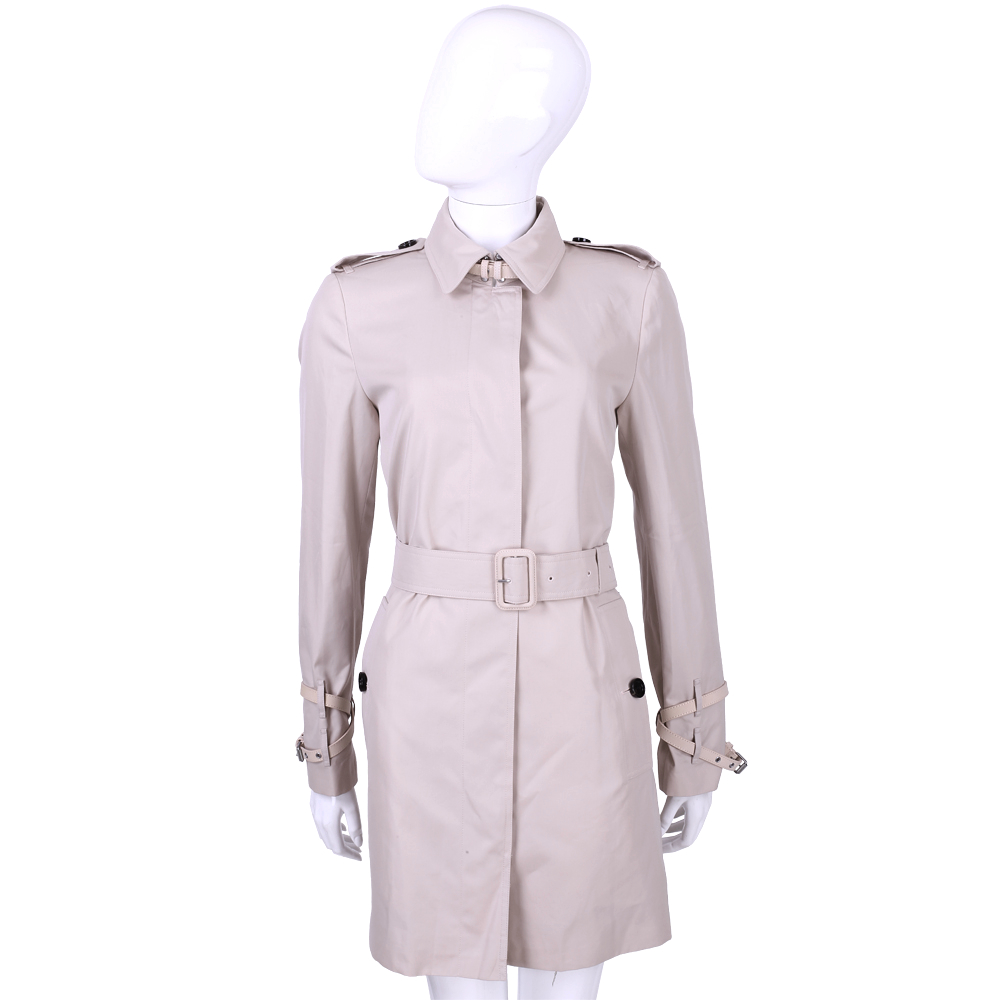 BURBERRY LONDON系列 棉質GABARDINE風衣外套(粉色)