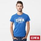 EDWIN x OUTDOOR聯名款 街頭崛起短袖T恤-中性款-藍色