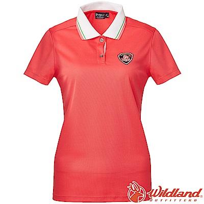 Wildland 荒野 0A61617-15珊瑚紅 女Coolmax排汗POLO衫