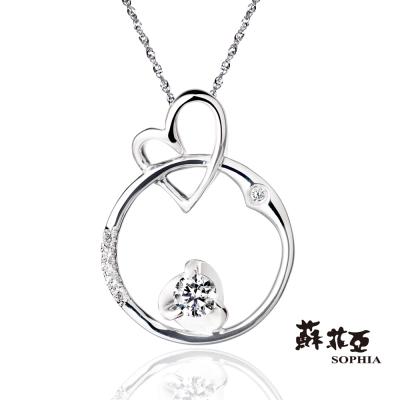 蘇菲亞SOPHIA 鑽鍊 - 心願 0.10克拉 八心八箭鑽石項鍊