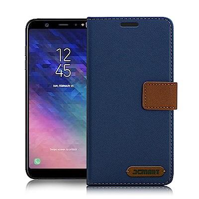 Xmart Samsung Galaxy A6+ 度假浪漫風支架皮套