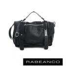 RABEANCO Modern現代美學系列雙飾帶包(小) 黑