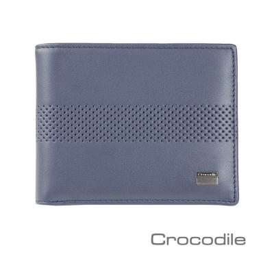Crocodile Punch 系列納帕牛皮中翻短夾 0103-07902